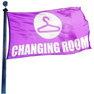 Changing Room Icon Hissflagge, Fahne im Wunschformat